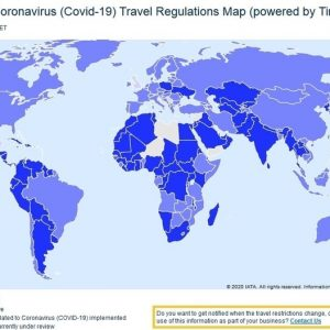 Travel regulations map (corona)